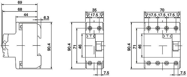dzl3 series residual current circuit breakers electrical