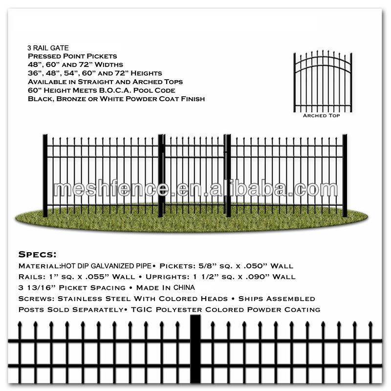 Powder coating black ornamental iron fence parts buy