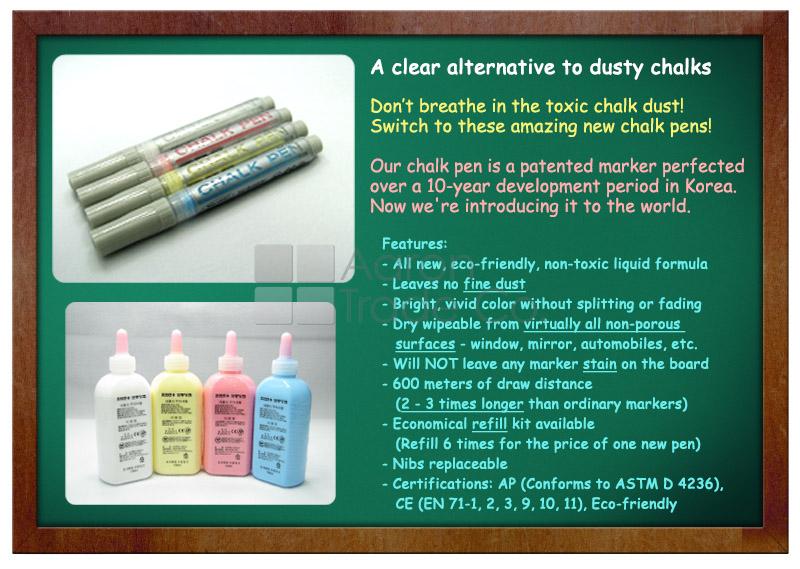 liquid eraser from chalk dust