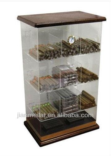 Cigar Humidor Countertop Acrylic Retail Display Case - Holds 250 ...