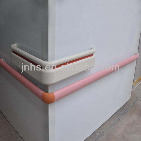 Pvc Wall Handrails : Pvc crash rail for hospital disabled handrail elderly