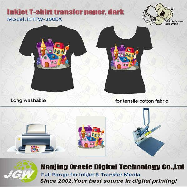 Wholesale 180g Dark T Shirt Transfer Paper Heat Transfer