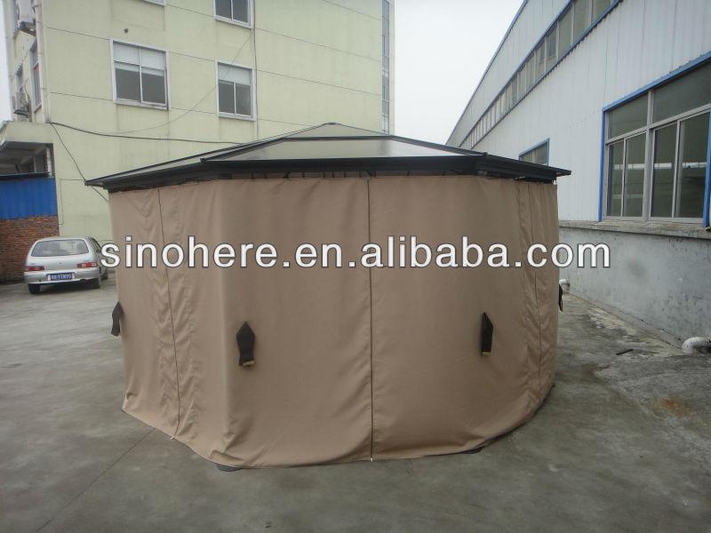new design aluminum octagonal polycarbonate gazebo buy. Black Bedroom Furniture Sets. Home Design Ideas