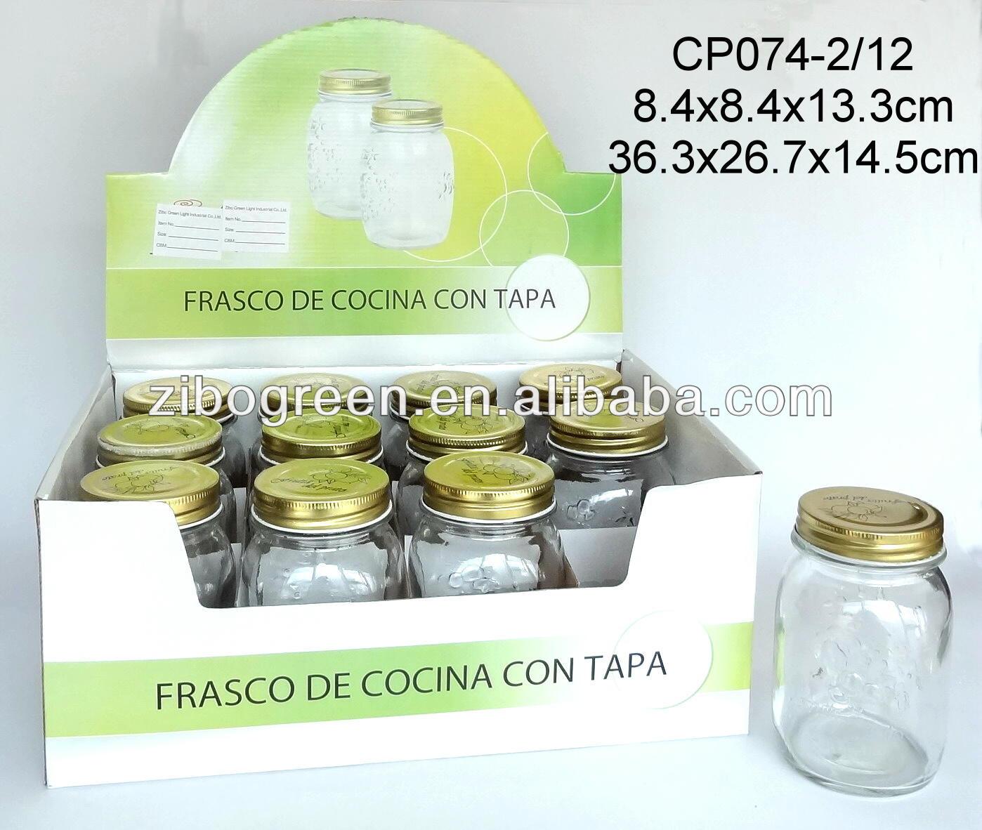 Zibo Tysan Light Industrial Products Co Ltd: CP074PT Glass Mason Jar For Jam Spray Printing, View Glass