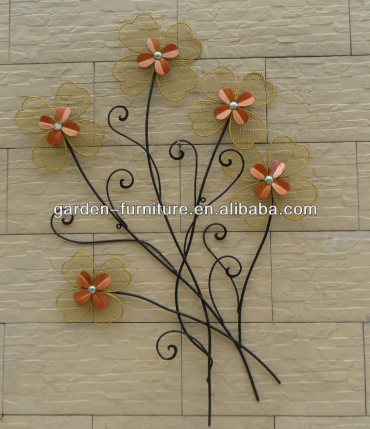 Wall Decoration Handicraft : Wrought iron art home decor wall metal tree and bird