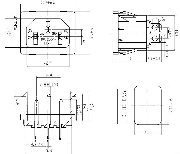 3 Pins Iec Connectors Nema Receptacles 60004862633 as well  on 15a 125v nema female