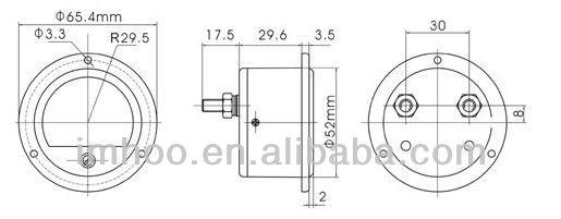 round panel meter analog voltmeter so-65
