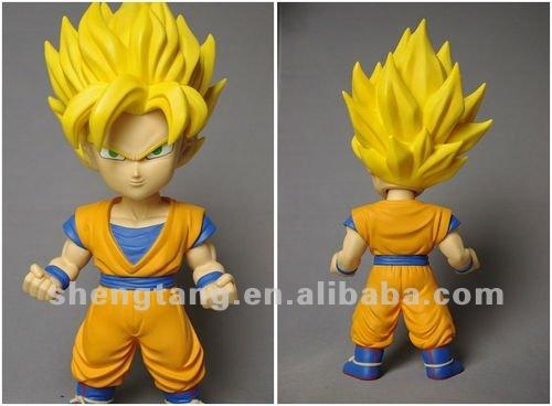 Cartoon Characters Yellow Hair : Angry yellow hair gongfu boy anime figurine buy
