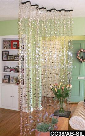 Acrylic silver champagne bubbles wavy beaded curtain room - Cortinas separadoras de ambientes ...
