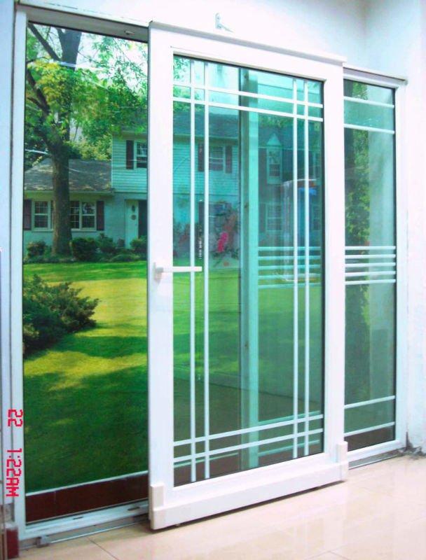 Pvc upvc three panel sliding glass door view three panel for Sliding glass doors 3 panel