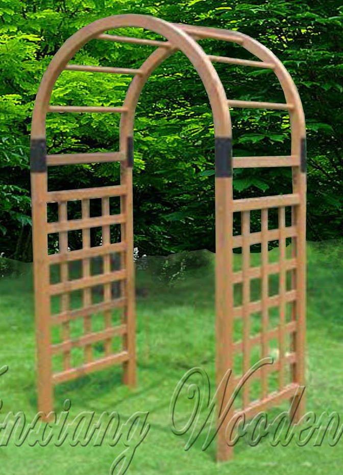 Wooden garden arbor buy wooden garden gate wooden garden for Arche de jardin en bois