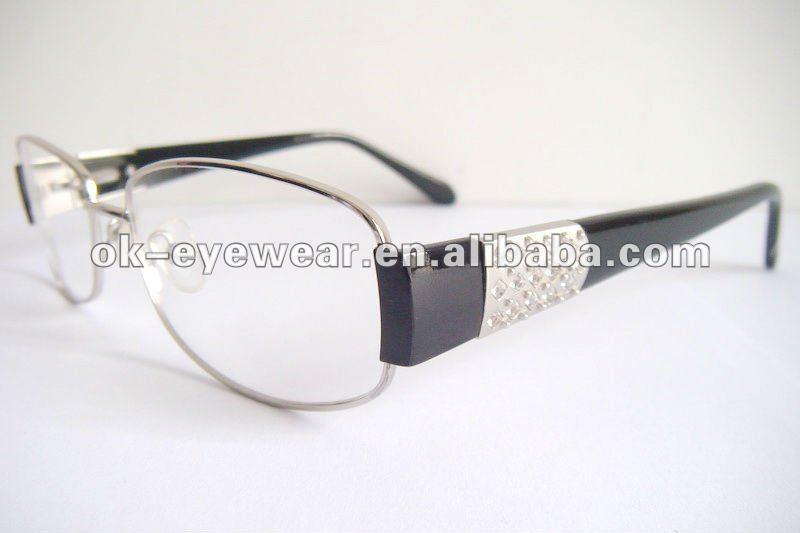 Ladies Eyeglass Frames Rhinestones : Womens fashion rhinestone eyeglasses frames eyewear, View ...