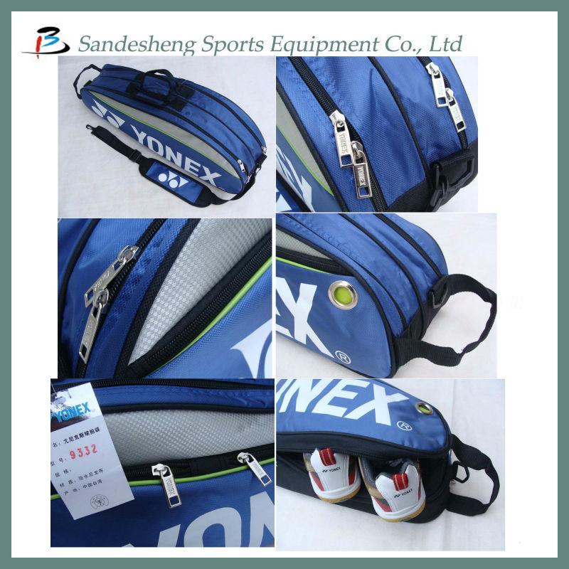 badminton sports bag with shoe compartment view badminton