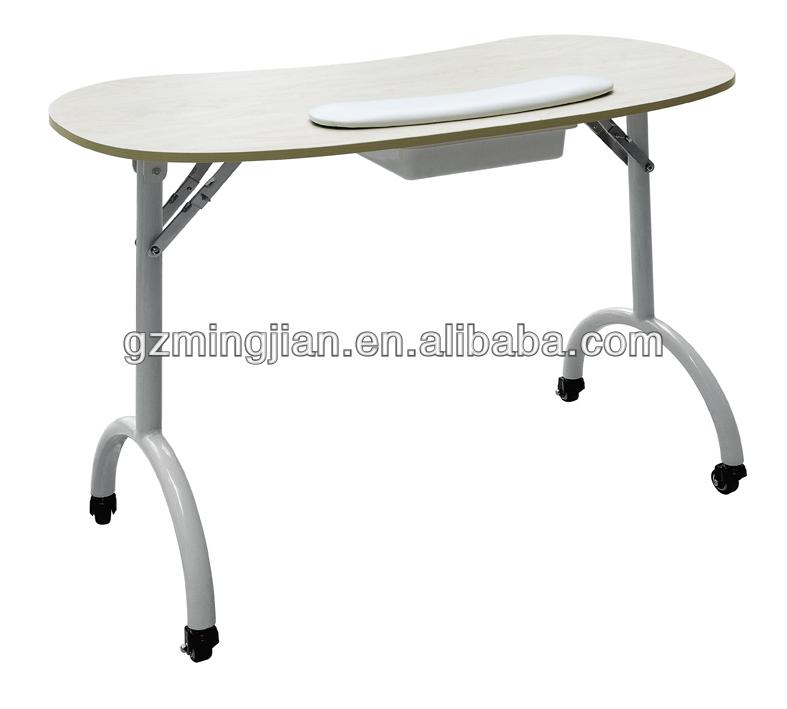 Folding manicure table nail salon furniture m718 buy for Folding nail table