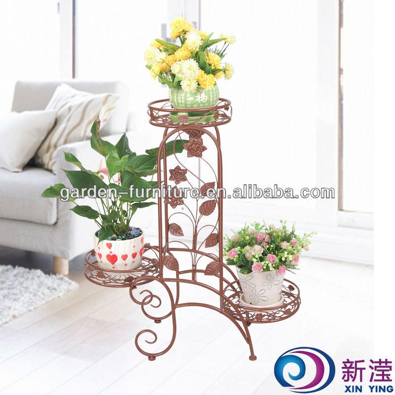 Metal Planters Indoor Handicraft Flower Stand Pot Holder