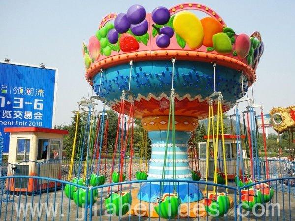 Lovely Children Amusement Park Rides Fruit Flying Chair