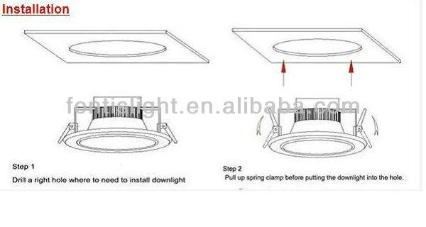 New products from china 18 watt cob led downlighting buy - Como instalar lamparas led ...