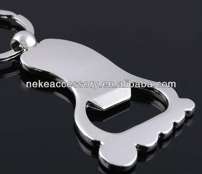 custom metal foot shaped beer bottle opener keychain buy anchor bottle opener with keychain. Black Bedroom Furniture Sets. Home Design Ideas