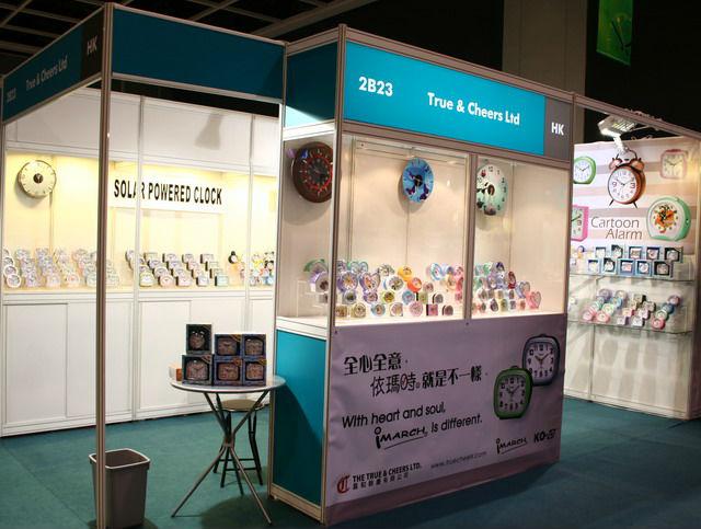 Exhibition Booth Rental Hong Kong : Luminous wall clock tc view