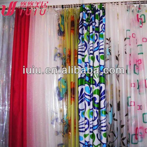 Peva Waterproof Solid Color Bathroom Shower Curtain Cheap Shower Curtain Bright Color Shower