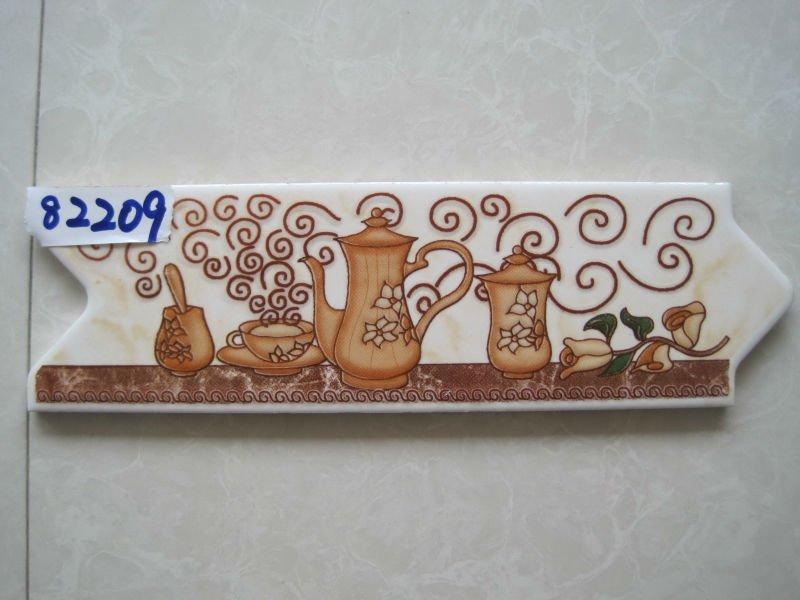 Egypt kitchen decorative ceramic border tile buy kitchen for Listelos de ceramica
