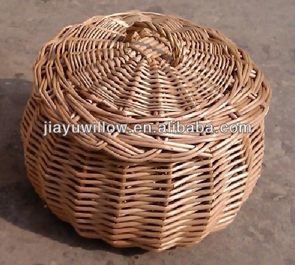 Wicker baskets small round wicker baskets wicker basket with lid view wicker basket jiayu - Round wicker hamper with lid ...