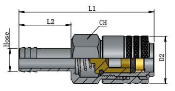 Series 210 AR0210 standard Type---Pneumatic Quick Couplings