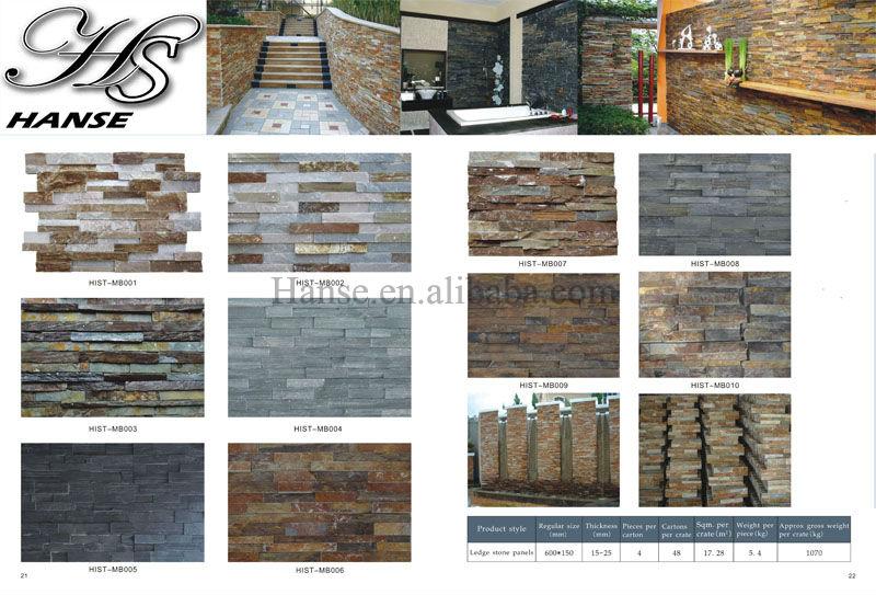 Stone veneer floor tiles