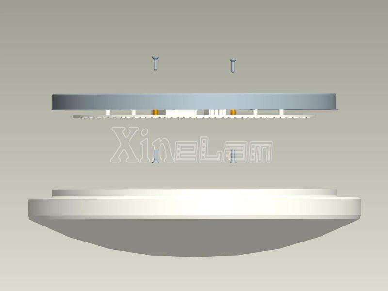 Diy Round Led Ceiling Light Fixture Inside Led Panel