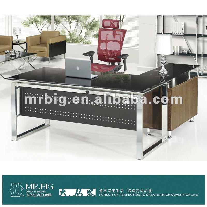 Db026 vidrio templado moderna muebles de oficina for Muebles oficina cristal