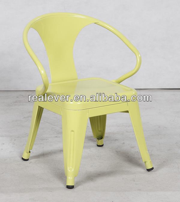 Replica children power coated toilx metal armchair view children