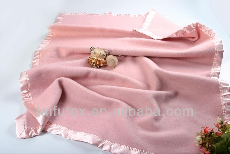Soft Australian Wool Pink Baby Blanket