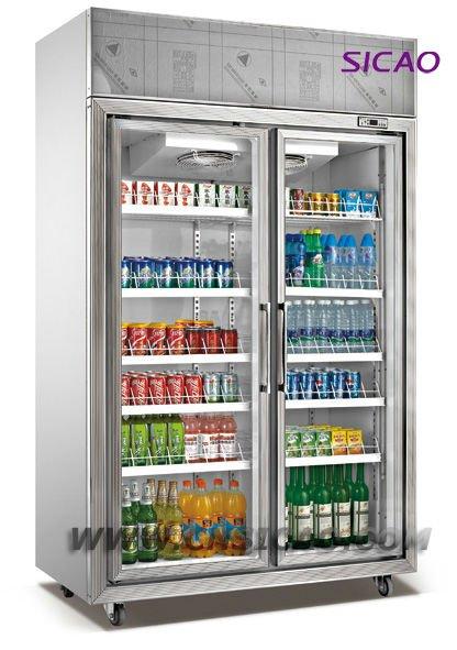4 Glass Doors Large Display Showcase Freezer For 2400l