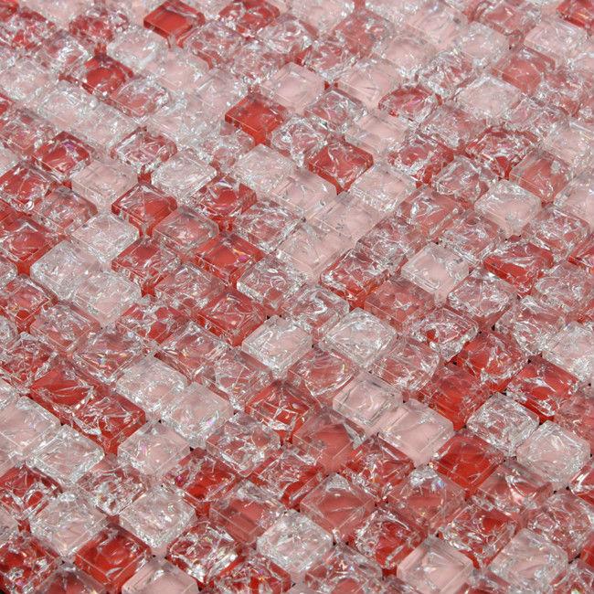 Indoor Wall Decorative Red Broken Glass Mosaic Tile View