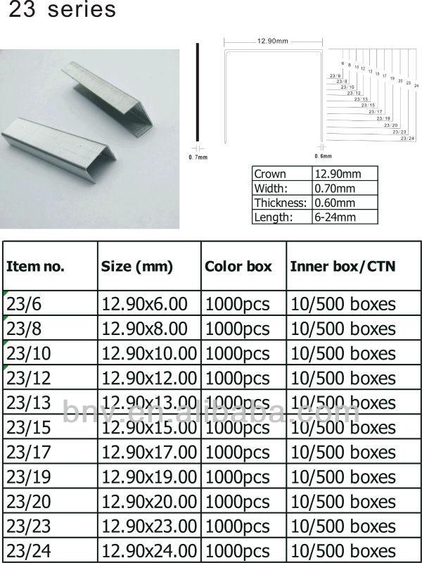 silver color galvanized metal SP19 1/4 staples, View staples SP19 1 ...