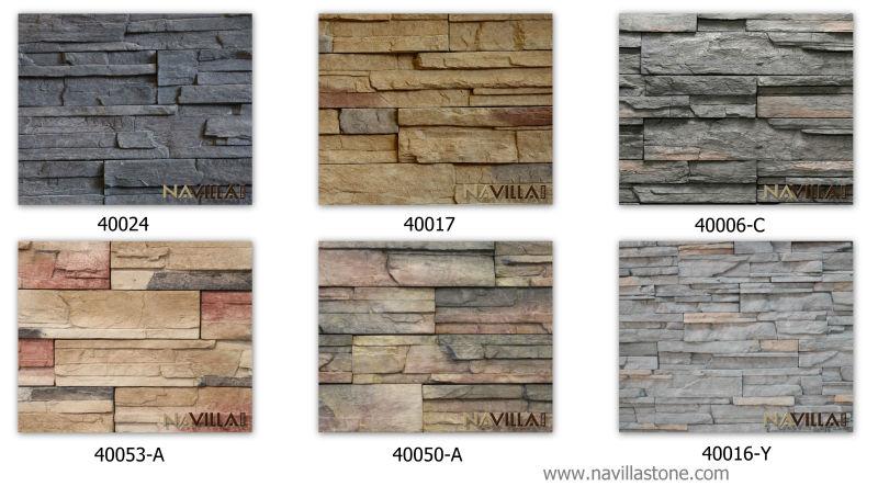 Interior artificial stone veneer wall cladding 40037a - Revestimiento piedra artificial ...