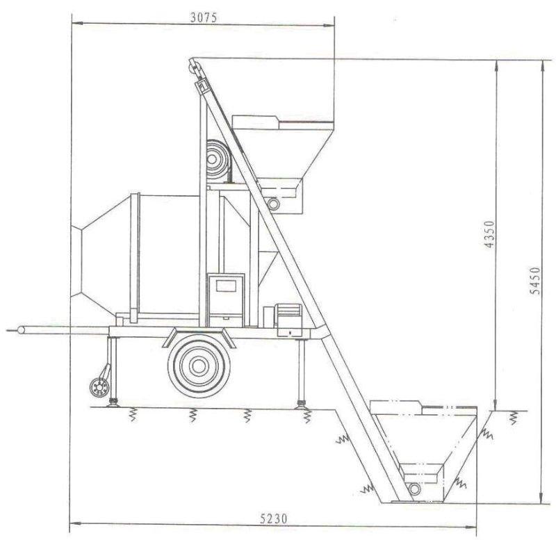 jzc350 skip hoist concrete mixer  view jzc350 skip hoist