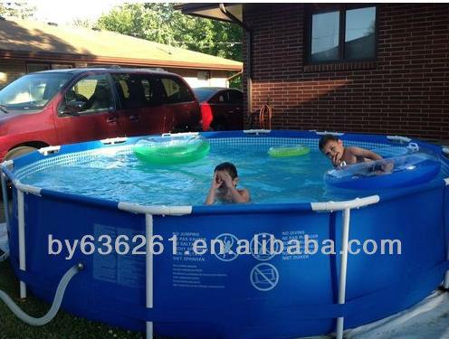 Family Size Round Metal Frame Intex Swimming Pool Buy Intex Swimming Pool Above Ground