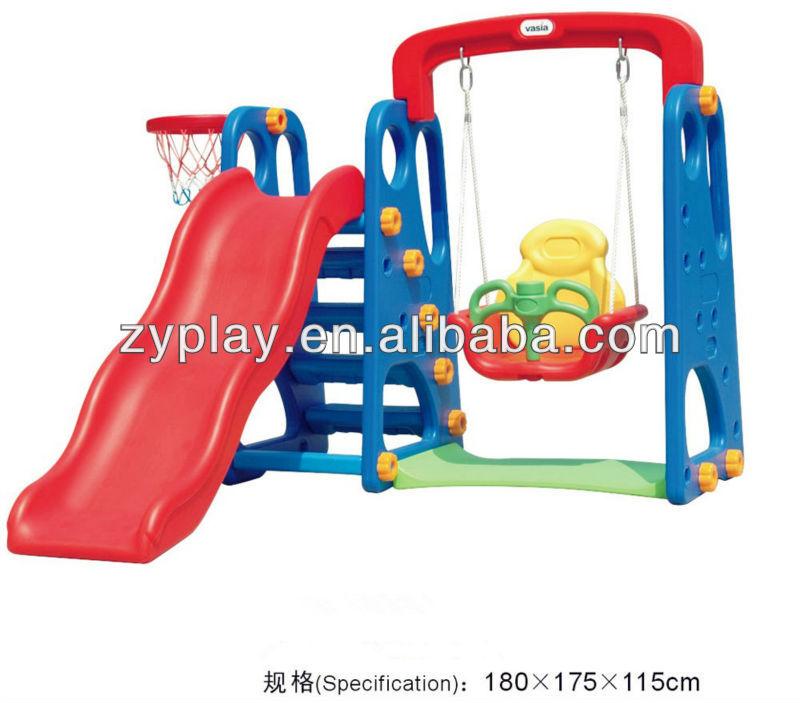 Hot Sell Kids Plastic Slide Swing Play Sets For Home