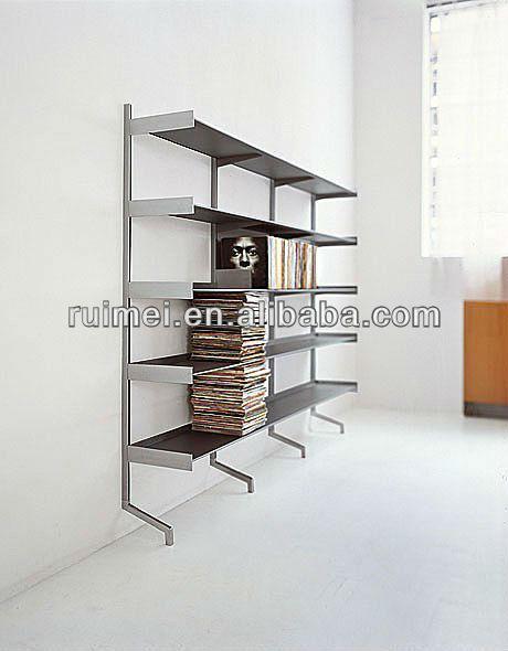 Wall mounted metal book shelf contemporary metal bookcase Wall mounted bookcase shelves