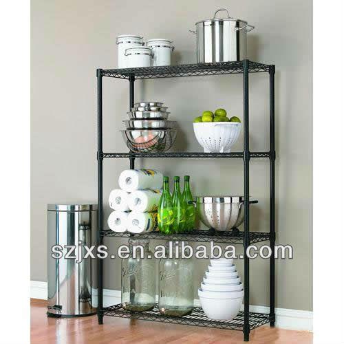 home wire shelf rack powder coated wire shelving buy. Black Bedroom Furniture Sets. Home Design Ideas