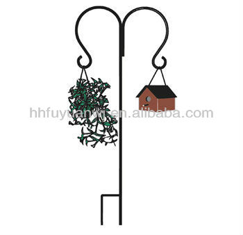 decorative metal garden hanging shepherd hook