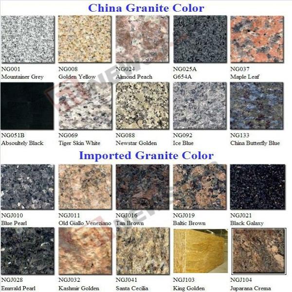 Brown Granite Colors And Names : India bangalore natural popular black galaxy granite price
