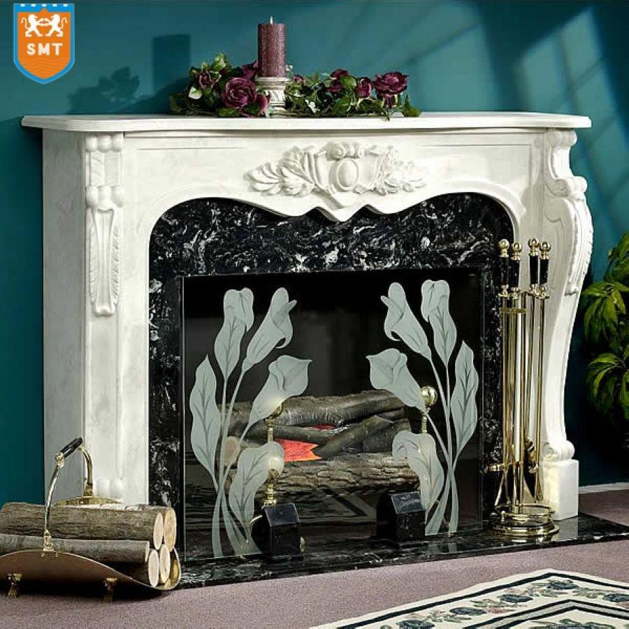 White Marble Stone Fireplace Mantel - Buy Stone Fireplace ...