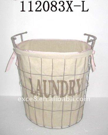 112083xl metal laundry basket wjute liner