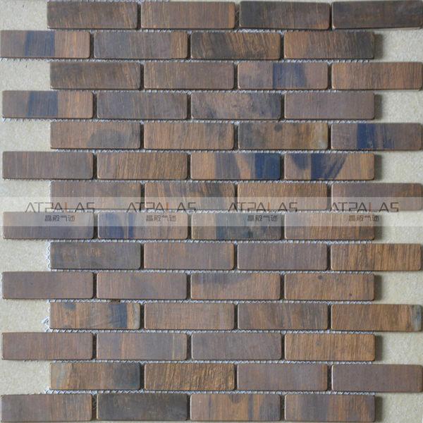 coffe shop decorative wall copper metal tiles backsplash