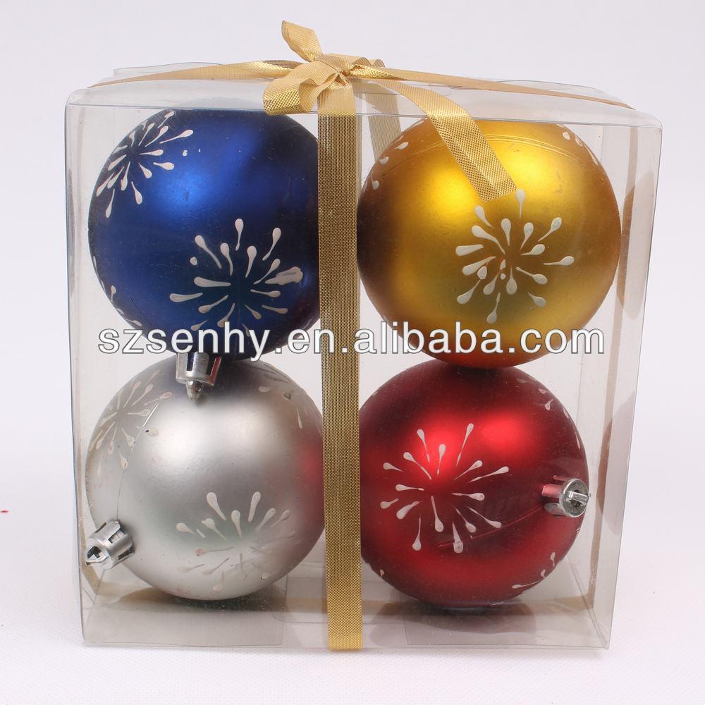Large plastic baubles decorations christmas