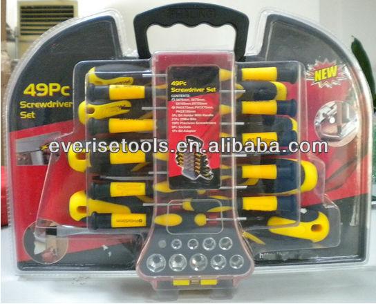 49pcs chrome vanadium screwdriver set in double blister buy chrome vanadium screwdriver set. Black Bedroom Furniture Sets. Home Design Ideas
