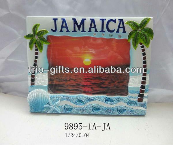 Jamaica photo frame souvenir, View Photo frame souvenir, Trio ...