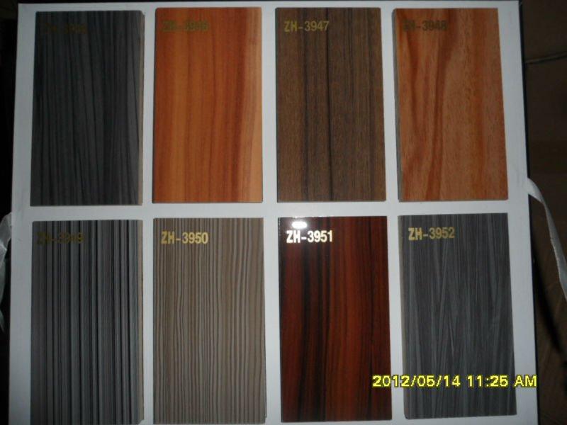 Kitchen cabinet high gloss uv wood grain door factory for Wood grain kitchen doors